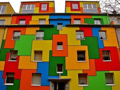 colorful houses wallpaper bunte