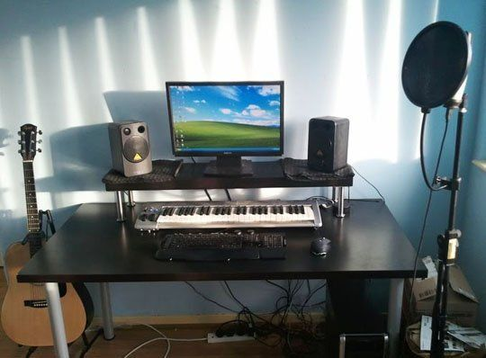 Outstanding Cheap Diy Ikea Home Studio Desk Got It Home Studio Interior Design Ideas Tzicisoteloinfo