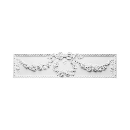 Pediment Medallion 36 Inch Top Door Window Frame Wall Design Primed White  D161
