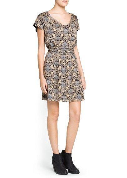 Floral wool-blend dress