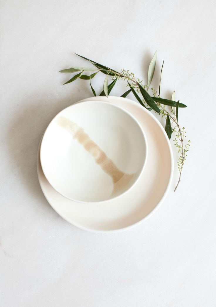 White with Pastel Porcelain Bowl // LUDC