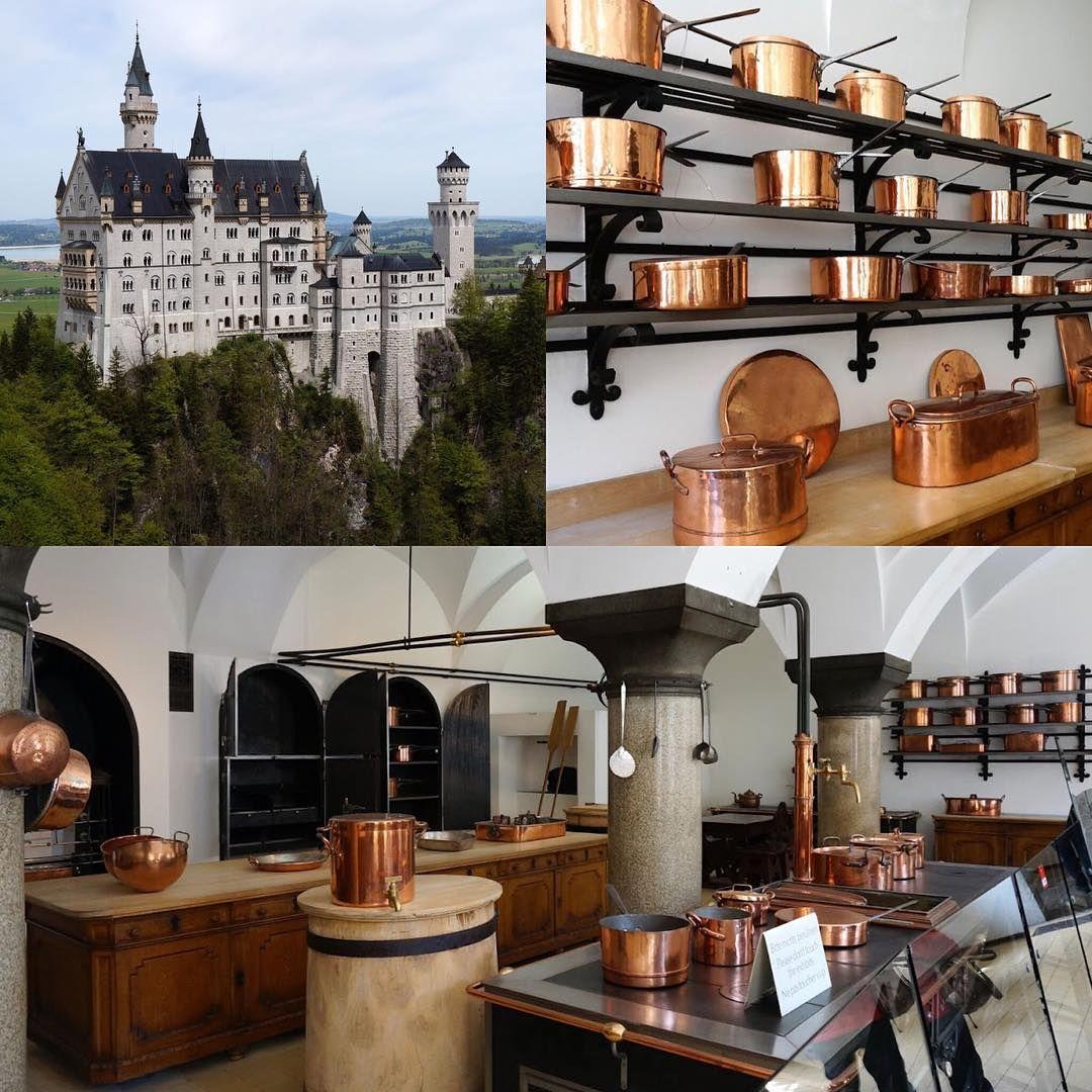 Neuschwanstein Castle (Bavaria)  the royal kitchen: luxurious hits copper utensils!
