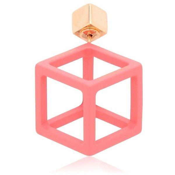 Caterina Zangrando Women Jason Mono Earring ($185) ❤ liked on Polyvore featuring jewelry, earrings, pink, post earrings, earring jewelry, post back earrings, pink earrings and pink jewelry