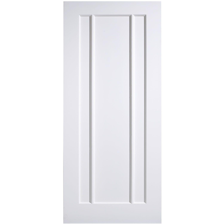 LPD Lincoln White Primed Composite 3 Panel Internal Door