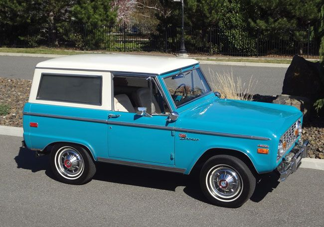 Turquoise Classic Early Ford Bronco Uncut Luber Ford Bronco
