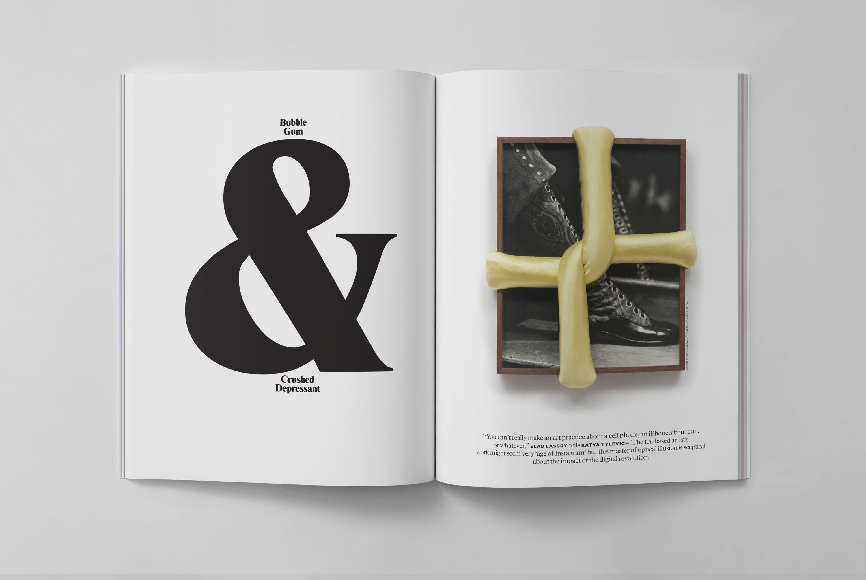 Elephant 20 Print Magazine Typography Fonts Graphic