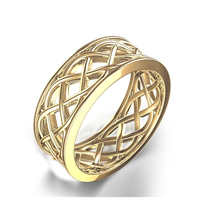 Womens woven celtic wedding ring in 14k yellow gold wedding womens woven celtic wedding ring in 14k yellow gold publicscrutiny Images