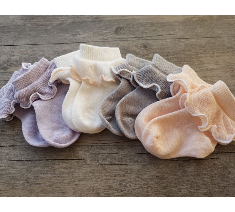 Ruffle Sock Ribbon Socks Tutu Socks PinkWhite floral ruffle socks
