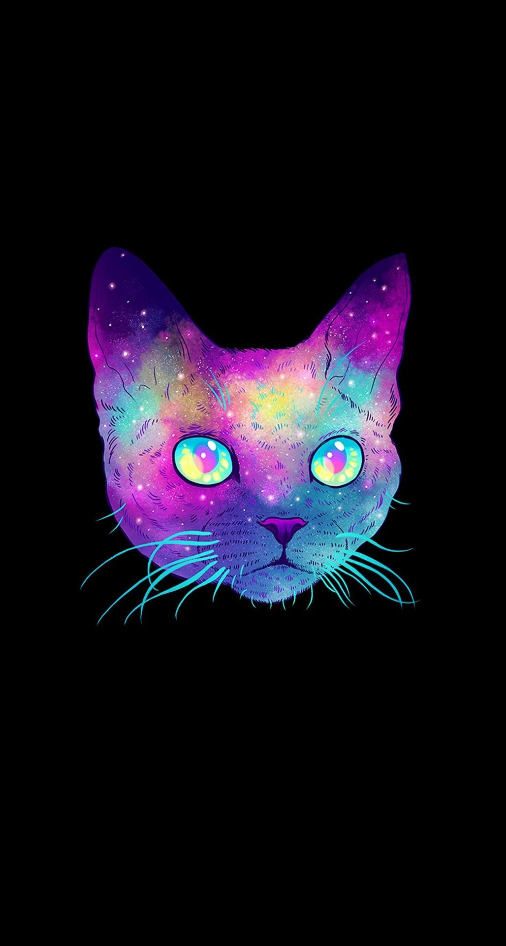 Galaxy Wallpaper Cat Backgrounds Mobile Iphone Wallpapers Phone