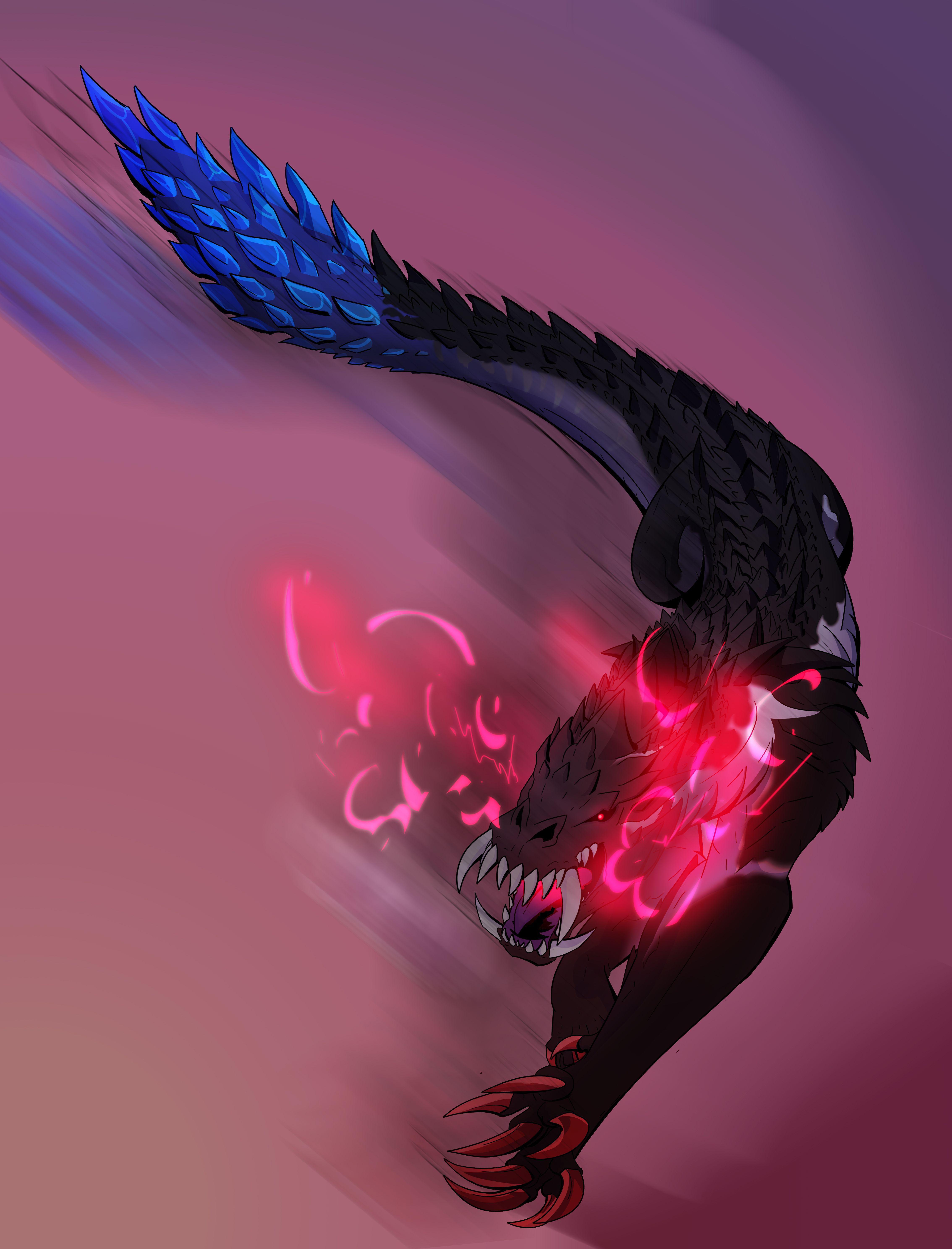 Ebony Odogaron Monster Hunter Series Monster Hunter World Monster Hunter Art