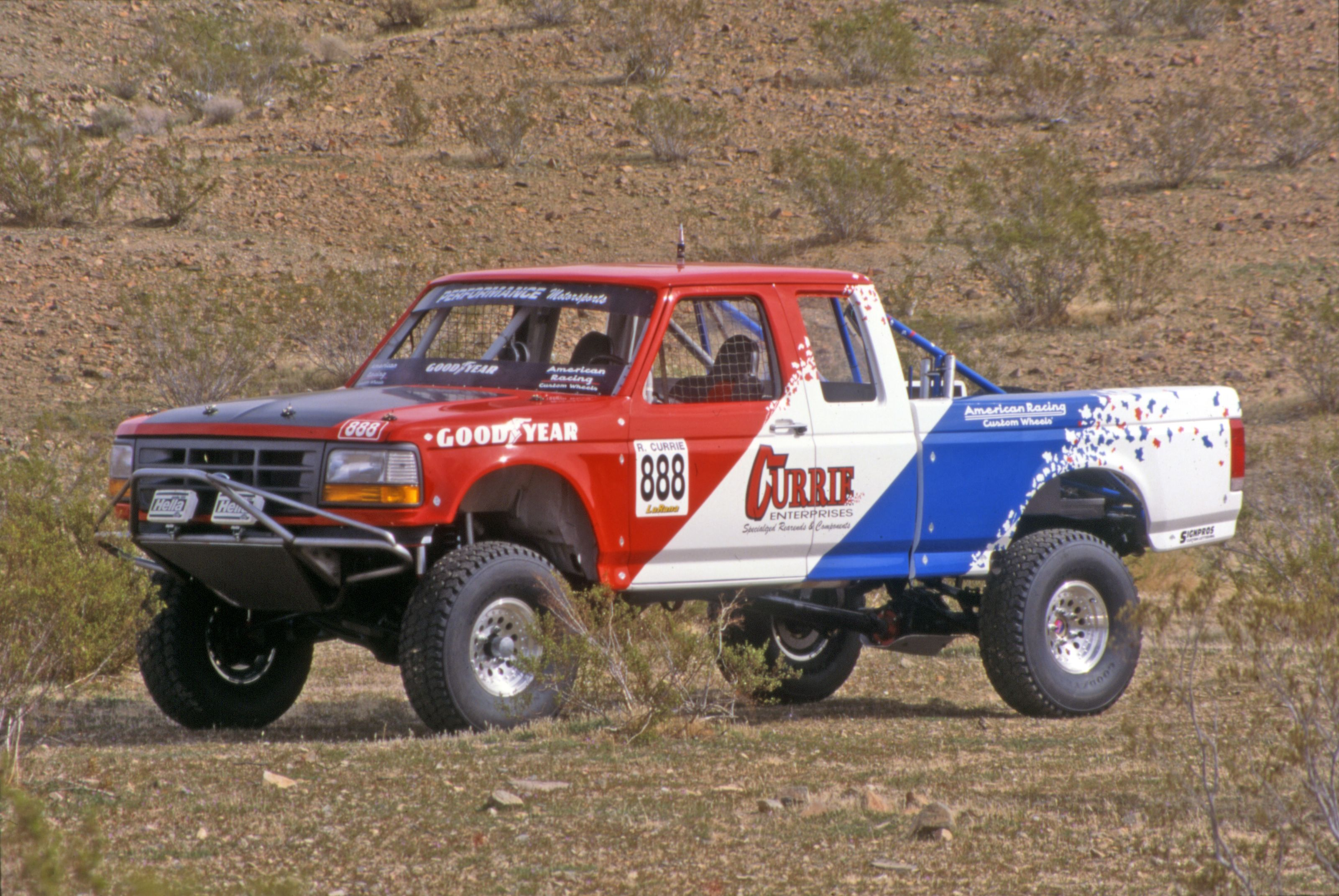 The Currie Brother S Off Road Racing F 150 Ford Truck In The Early