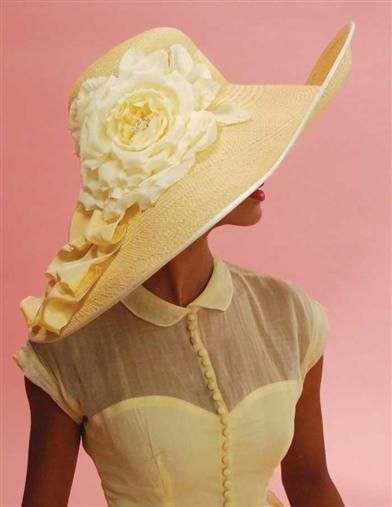 LOUISE GREEN PRIMROSE PICTURE HAT 50s dress sweetheart neckline sheer  illusion tab collar button up short sleeves 8edb57115e6e
