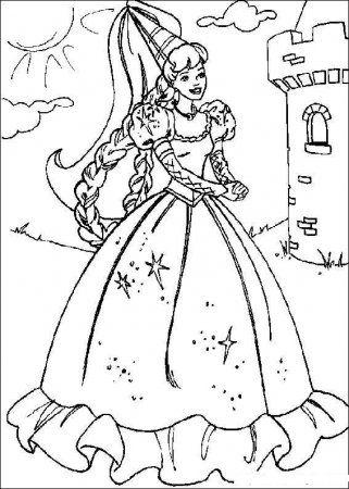 Раскраска Барби | Принцесса раскраски, Раскраски дисней ...
