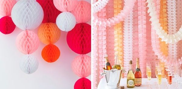 Party Decorating Ideas With Streamers bright young things | streamers, martha stewart and martha stewart