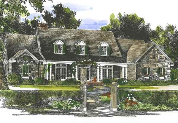 One Story Home Beautiful Exterior With High Pitched Roof Line House Exterior House Plans Farmhouse Craftsman House Plans