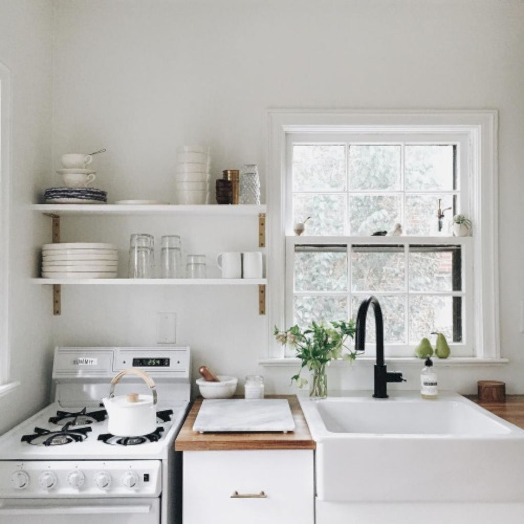 simple minimalist small white kitchen design ideas small white