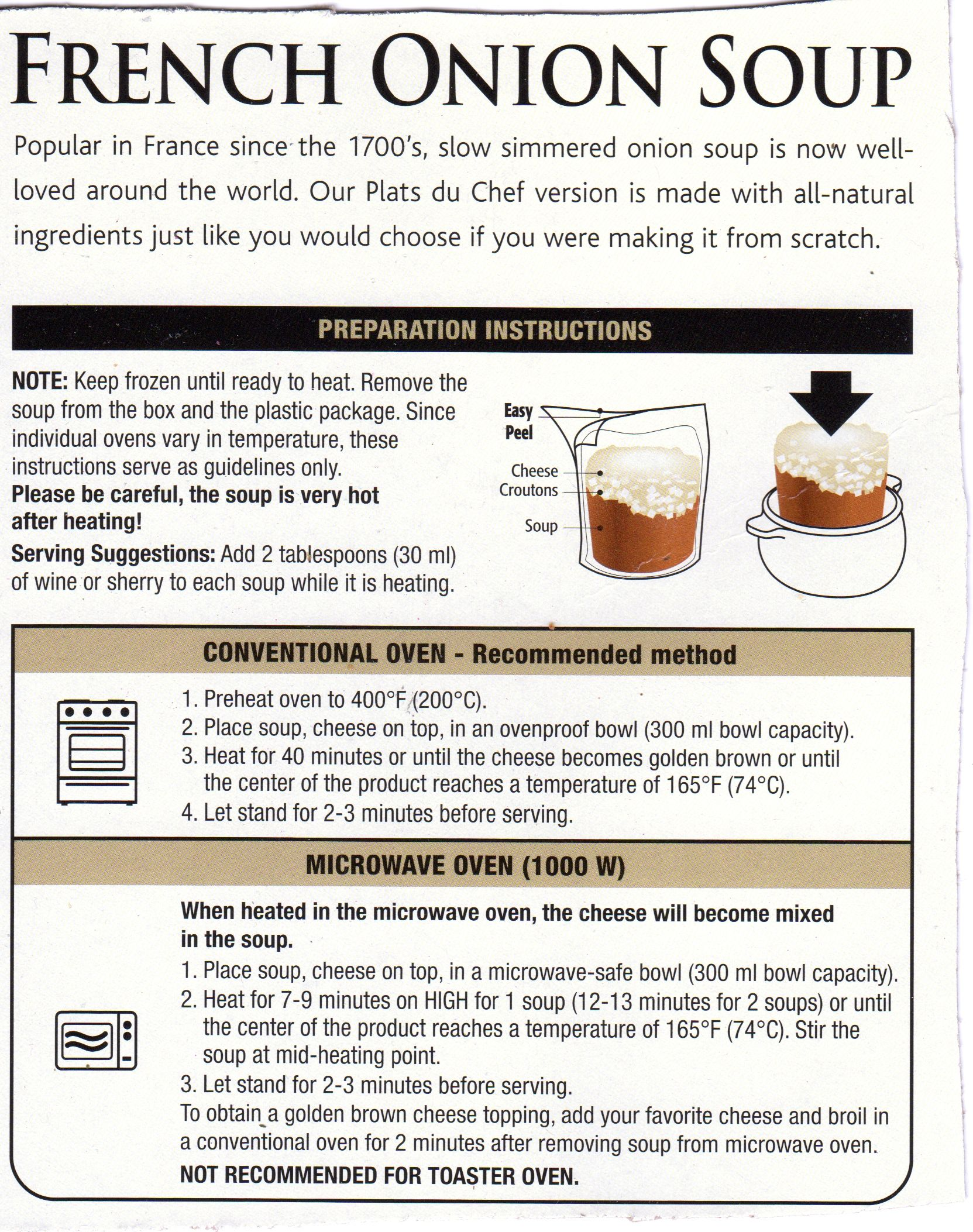 Country Kitchen French Onion Soup instructions for costco frozen french onion soup | things to