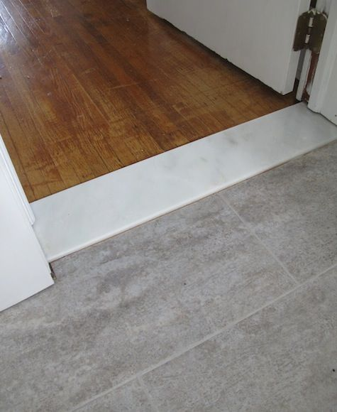 Tiling Bathroom Door Threshold new laundry room: frosted decal door & more details | marble