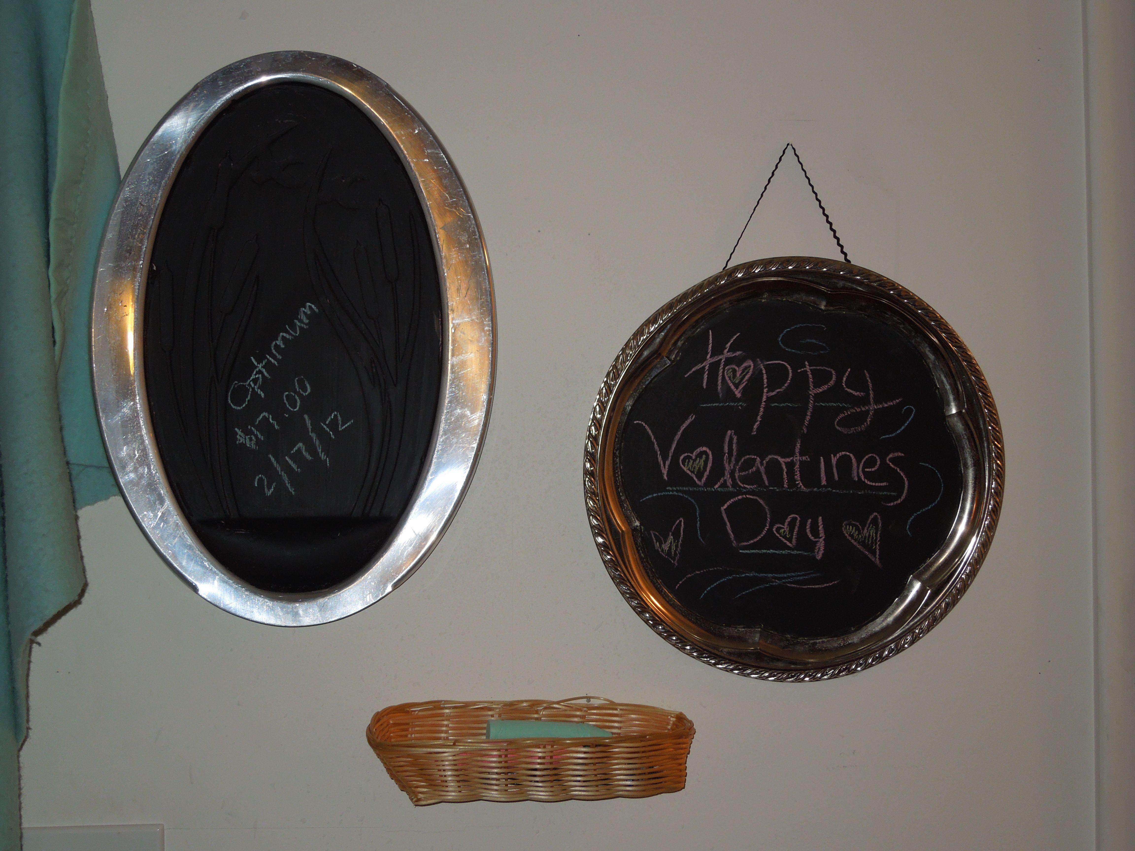 Silver Platter Chalk Boards