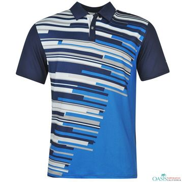 4c87fd966 Blue and White Sublimated #Polo_Shirt. Blue and White Sublimated  #Polo_Shirt Custom Polos, Sublime Shirt ...