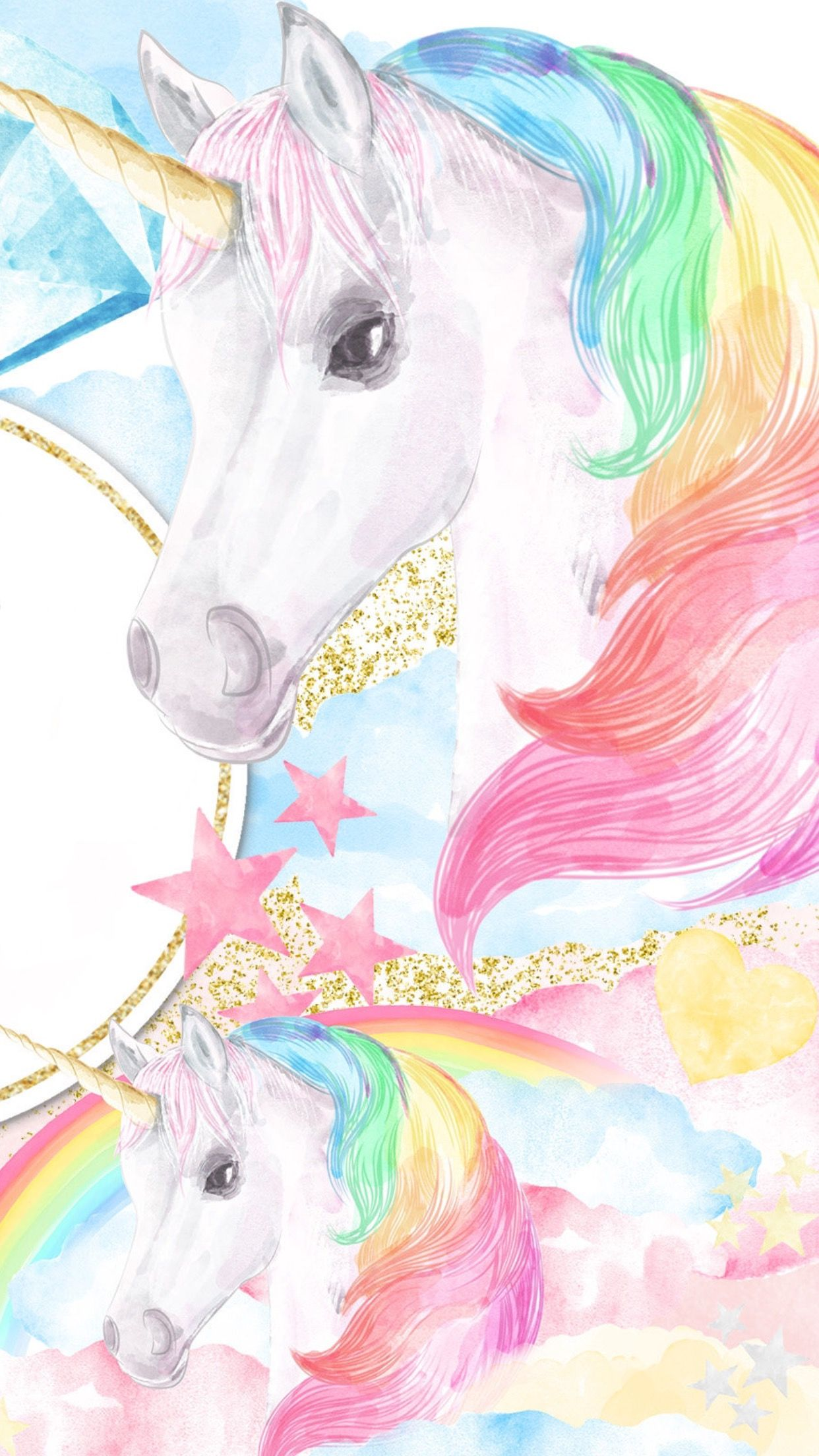 16fa16dd30d Pin on Unicorn   Pegasus Wallpaper
