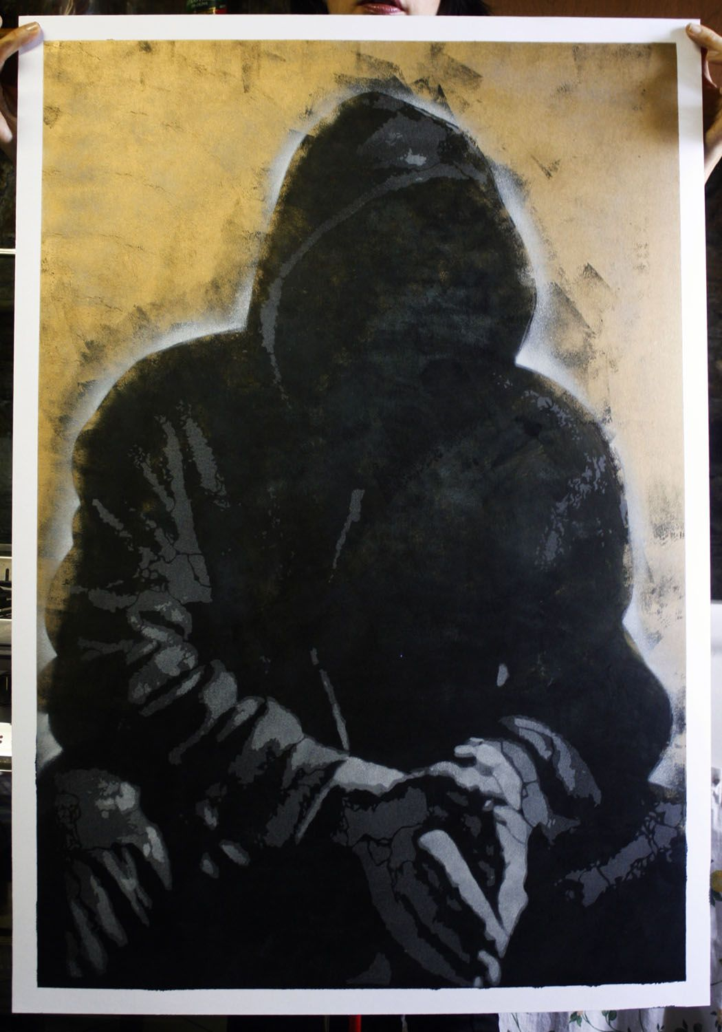 portrait of Banksy by Orticanoodles. available at www.urbanpainting.it