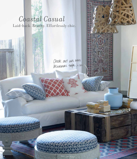 Coastal casual living room by serena lily