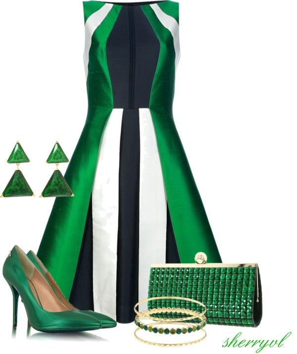 """Shades Of Green Contest"" by sherryvl on Polyvore"