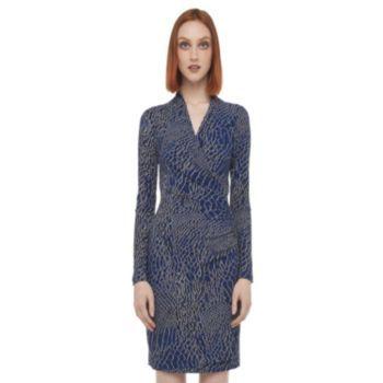 Kamalikulture Reptile Faux-Wrap Dress - Women's