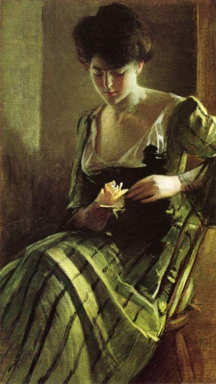 1900 John White Alexander (American, 1856-1919) ~ A Rose