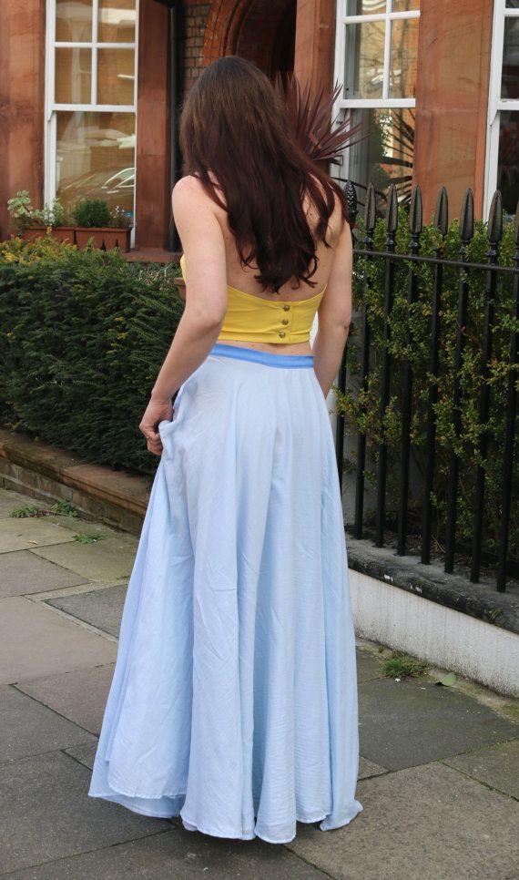 3e0e9f084229 Long Circle Skirt Organic Cotton Skirt Maxi by CucurClothing