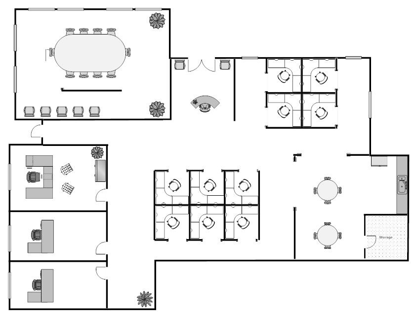 Open Floor Plan Office Furniture: Training Room Furniture Layout - Www.ofwllc.com