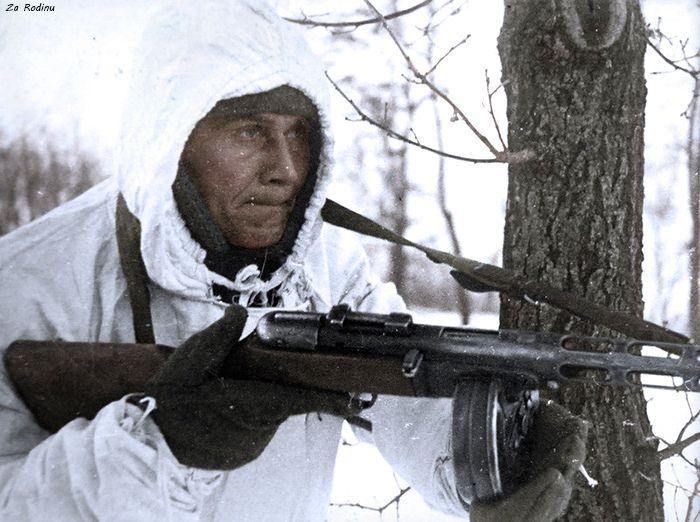 Советский солдат с ППШ-41 | За Родину от
