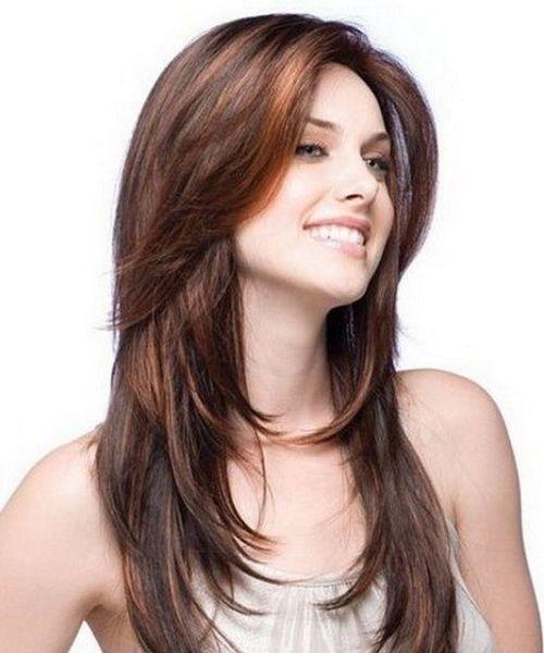 Corte de cabello largo para mujeres jovenes