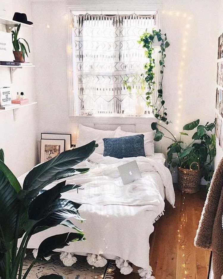 Dormcy On Instagram I Love Decorating My Room With Plants Nature Is Sooo Beautiful And Needs To Be P Small Bedroom Decor Boho Bedroom Design Small Room Diy