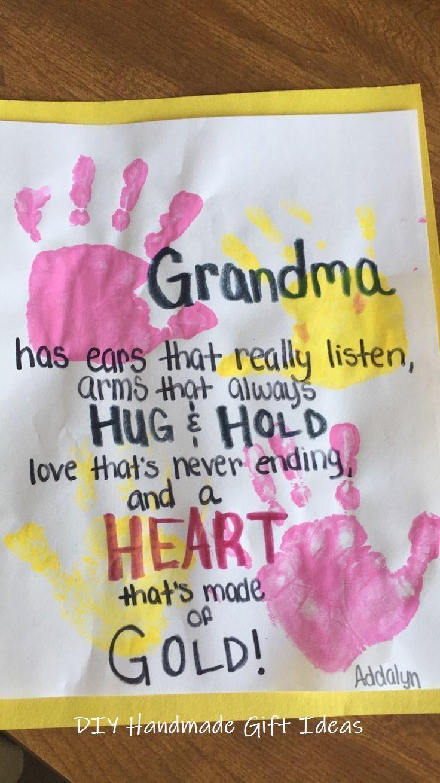 20 Creative Handmade Gifts DIYs #gift #giftideas #grandparentsdaygifts