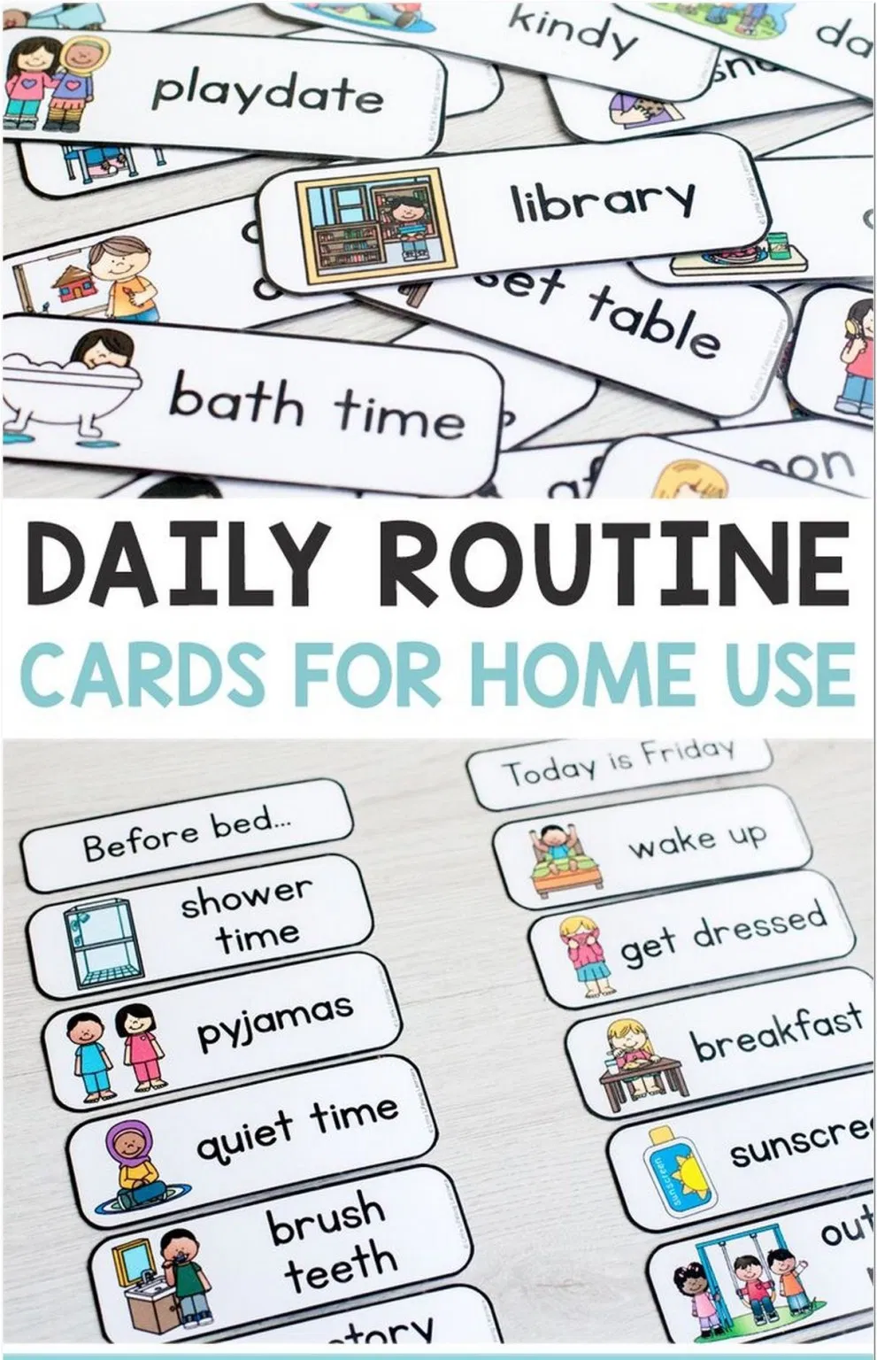 72 Our Daily Homeschool Schedule 1 Daily Routine Chart For Kids Routine Cards Visual Timetable