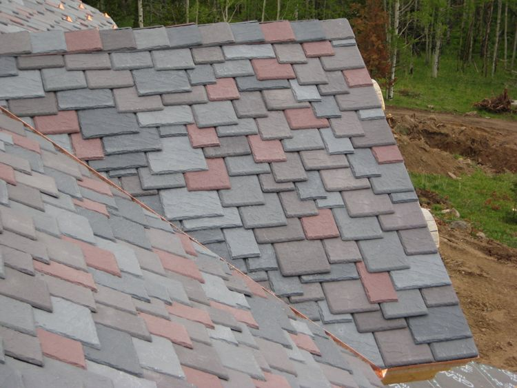 This Multi Colored Roof Is Made Of Composite Shakes. The Earth Tones Blend  Together