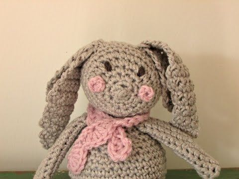 VERY EASY crochet bunny tutorial - amigurumi rabbit for