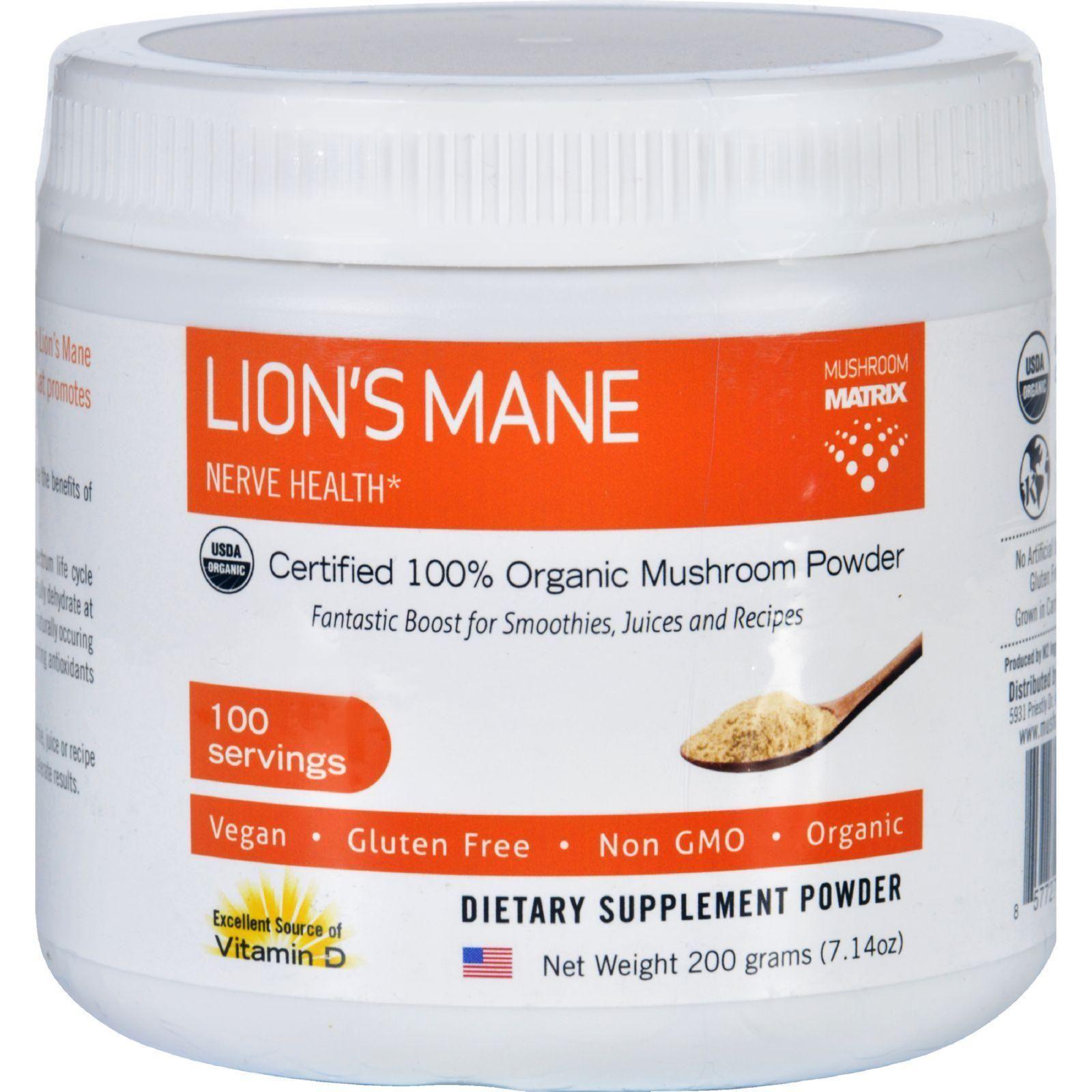 Mushroom Matrix Lions Mane Organic Powder 7.14 Oz