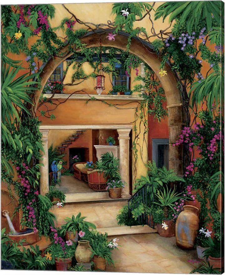 Hacienda Home Decor: Hacienda Courtyard By Betty Lou Canvas Art In 2019