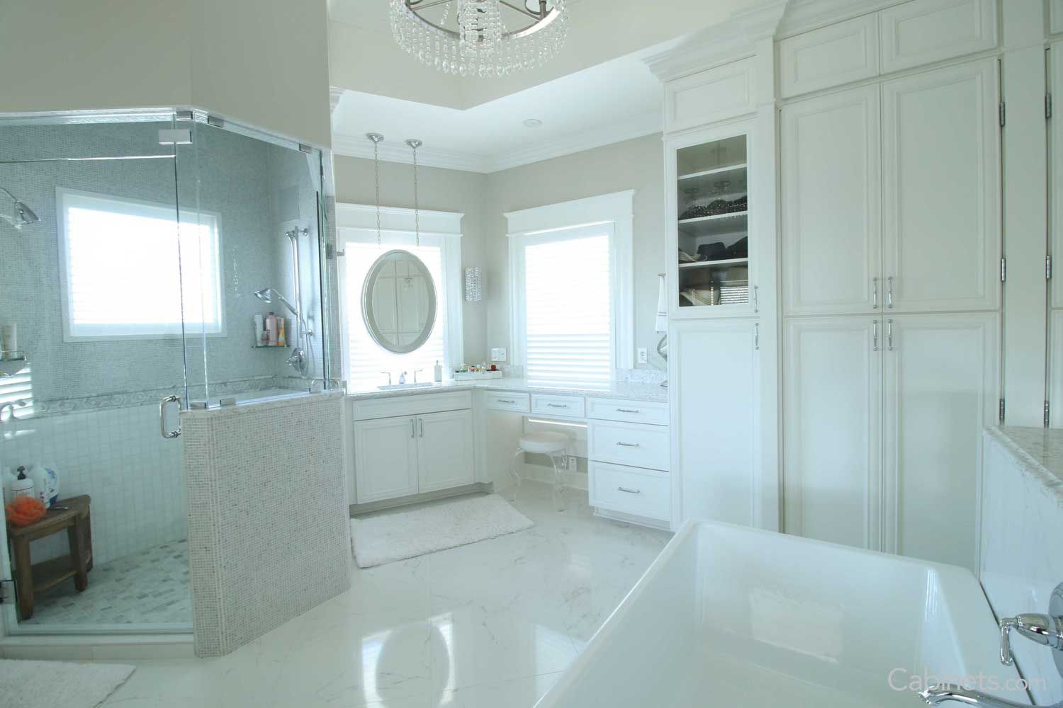 Hawthorne Maple Bright White | tiled bathrooms | Pinterest ...