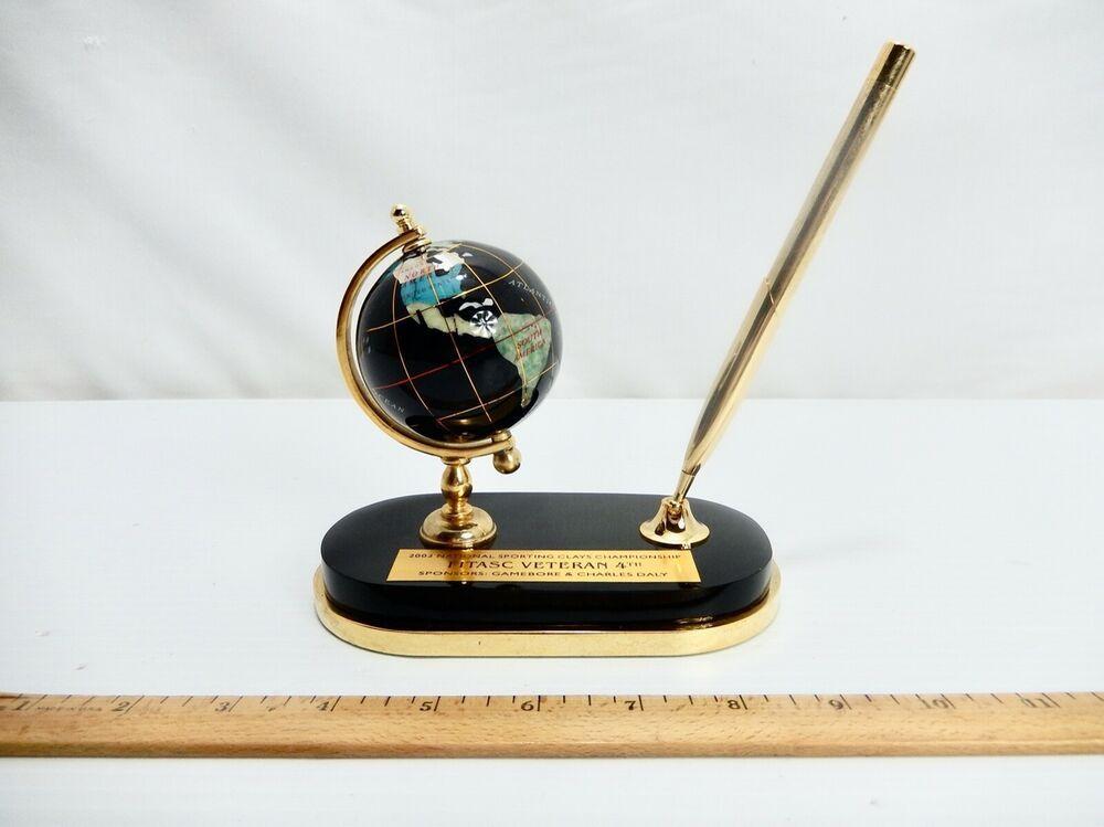 """2003 Sporting Clay Trophy w/ 2.5"""" Brass & Inlaid Semi"""
