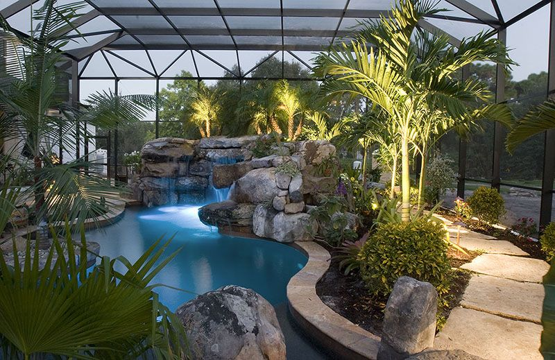 Pool Tropical Landscaping Ideas landscaping around swimming pools with tropical plants in sarasota
