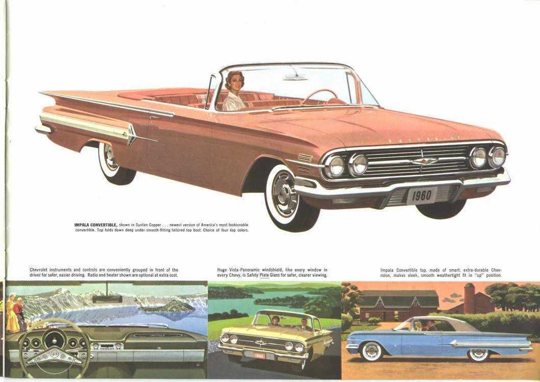1960 Chevrolet Impala Convertible Chevrolet Chevrolet Impala Automobile Advertising
