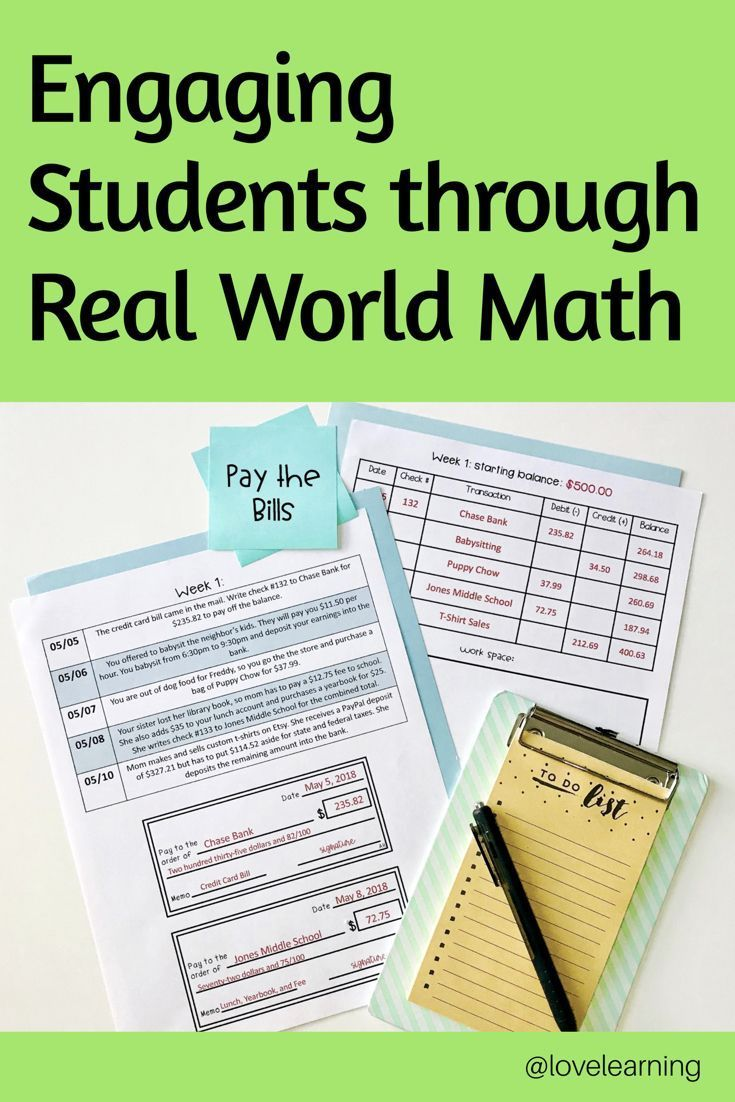 Pay the Bills: A Real World Adding and Subtracting Decimals Project #mathintherealworld The easiest way to improve math understanding in the classroom is through real world math or project based learning. When students can apply math to their daily lives, they work hard and are more engaged in learning. This project requires students to add #mathintherealworld