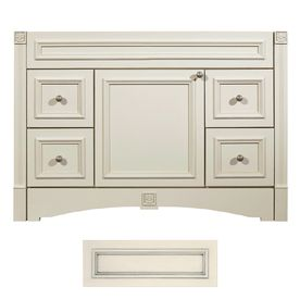 Architectural Bath Tuscany Vanilla/Pewter Traditional Bathroom Vanity  (Common: 48 In
