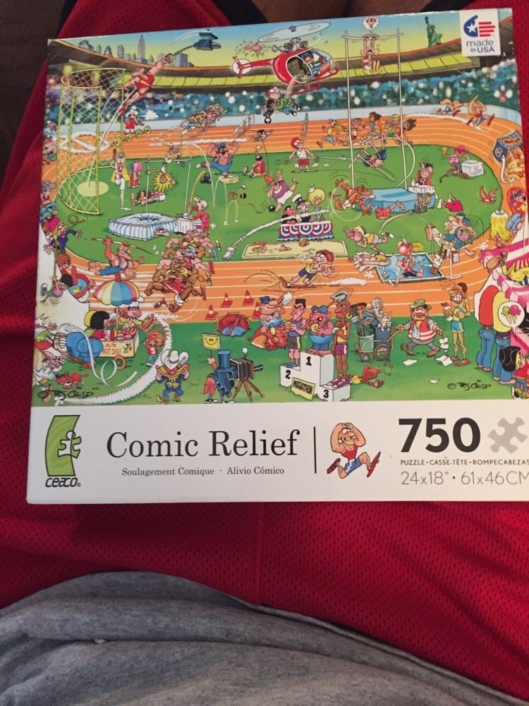 Comic Relief Olympics 750 Piece Jigsaw Puzzle Ceaco 2978-5