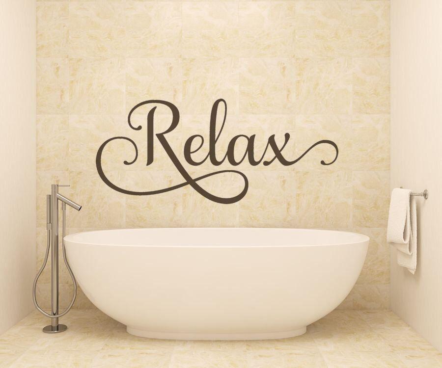 Bathroom Decor, Bathroom Wall Decal, Bathroom Sticker, Relax, Bubble Bath,  Bathroom Wall Decor By AmandasDesignDecals On Etsy ...