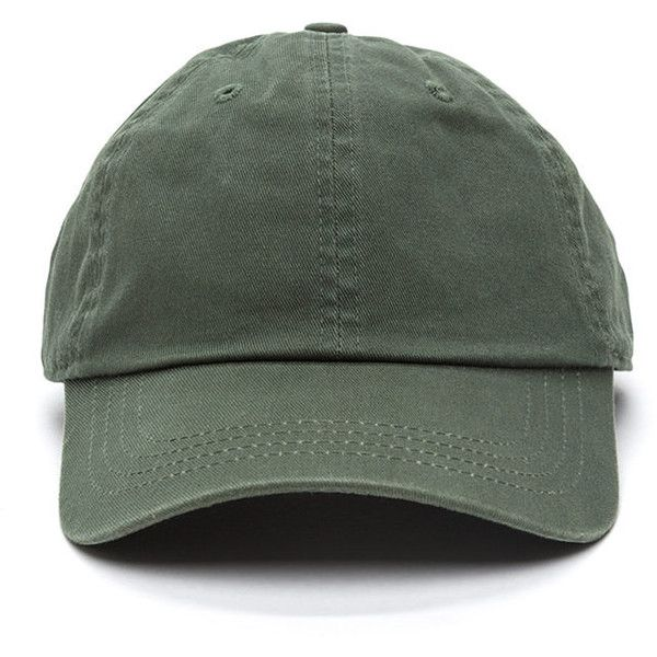 530345fbe3c Not A Player Baseball Cap DKGREEN ( 6.50) ❤ liked on Polyvore featuring  accessories